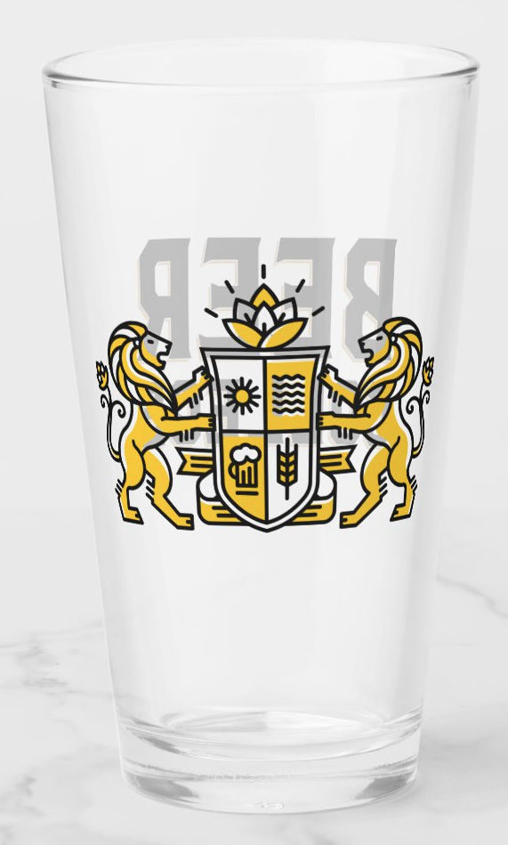 Beer College Pint Glass (Image)