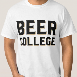 Beer College Block Logo T-Shirt (Image)