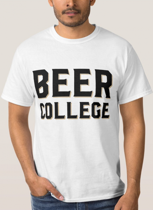 Beer College Block Logo T-Shirt (Image)