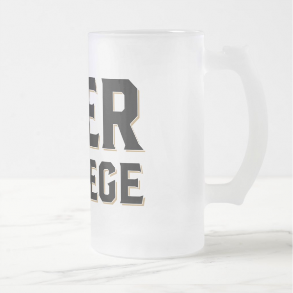Beer College Frosted Beer Mug (Image)