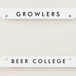 Beer College Growlers License Plate Frame (Image)