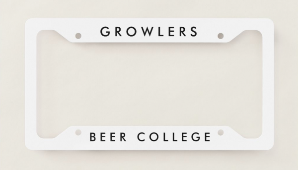 Beer College Growlers License Plate Frame (Image)