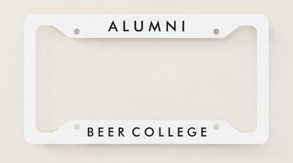 Beer College Alumni License Plate Frame (Image)