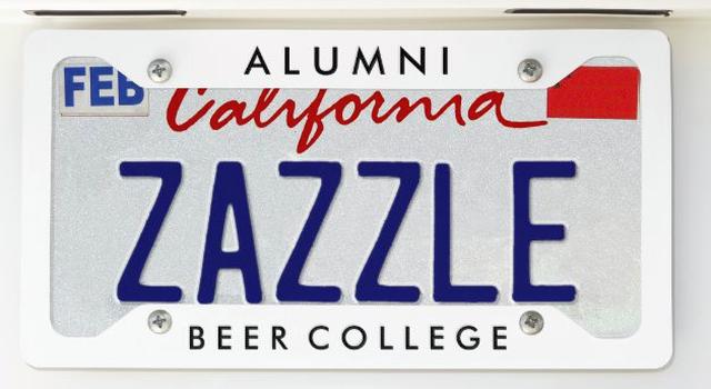 Beer College License Plate Frame (Image)